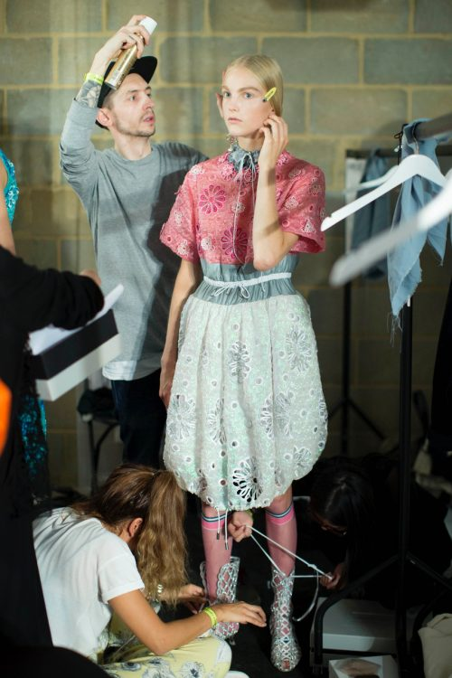 BTS stills for Mary Katrantzou show for London Fashion Week. Dean, Chapple, Chapters, People, freelance, unit, stills photographer, portrait, fashion, editorial, photography, crew, commercials, promos, film, drama
