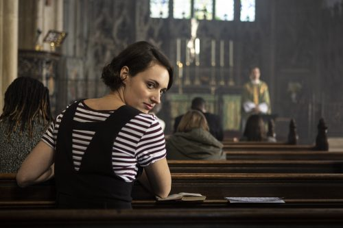 Stills of Phoebe Waller-Bridge in comedy drama 'Fleabag' Series 2. Luke, Varley, Chapters, People, freelance, production, unit, stills, photographer, photography, portrait, crew, commercials, promos,
