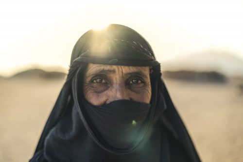Image of Bedouin woman, it had a honourable mention at the International Photo Awards 2018 in the portrait category. Greg, Woodward, Chapters, People, freelance, production, unit, stills, photographer, photography, portrait, crew, commercials, promos,